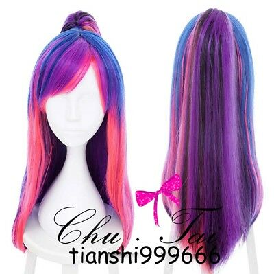 My Little Pony Twilight Sparkle Mixed Straight Clip Ponytail Tail Cosplay Wig