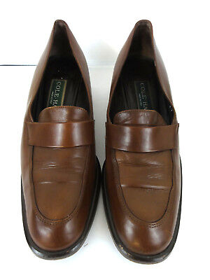 3c7f7f609e558 COLE HAAN COUNTRY womens loafers shoes 6.5 B brown leather Low Heel Italy  Made