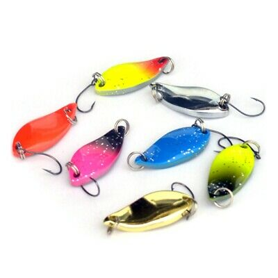 7Pcs Colorful Trout Spoon Fishing Lures 3cm/5g Baits Single Hook Tackle Outdoor