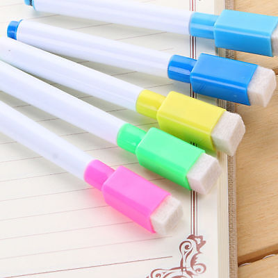 Useful Multicolor Whiteboard Marker Dry Wipe Erase Magnetic Pens Eraser Lid Caps