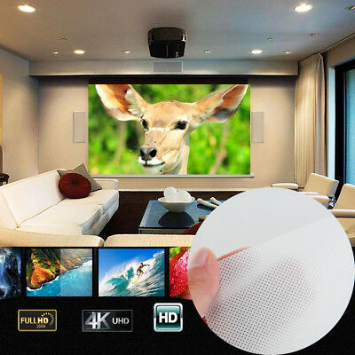 4:3 White Compact Soft Projection Curtain Projector Screen Party Cinema
