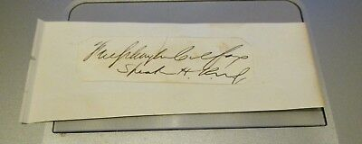 Schuyler Colfax Signature....Vice President....Speaker of the House...