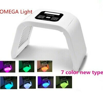 7 Colors Light Photon LED Electric Facial Mask PDT Skin Rejuvenation Therapy New