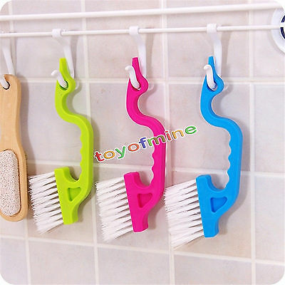 Novelty useful Sliding Door Track Clean Brush Window Home Cleaning Tools 2Pcs