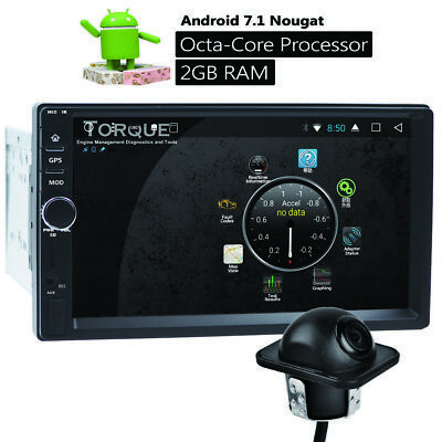 """Double 2 Din 7"""" Android 7.1 Car Stereo Radio GPS Octa-Core player wireless Cam"""