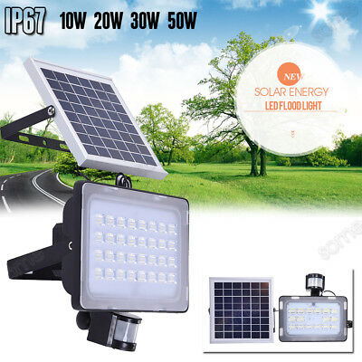 LED Solar Sensor Light Outdoor Security Flood light Garden Motion Floodlight AD