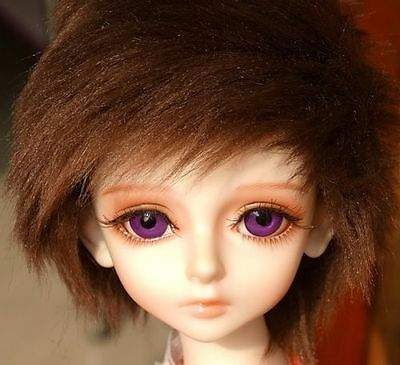 "7-8"" 7-8inch 18-19cm BJD doll wig brown short wig for 1/4 SD Dollfie antiskid"