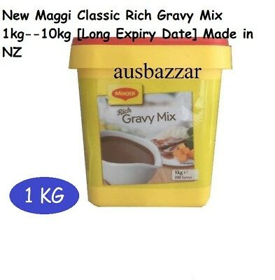 New Maggi Classic Rich Gravy Mix 1kg---10kg Long Expire Date with Made in NZ