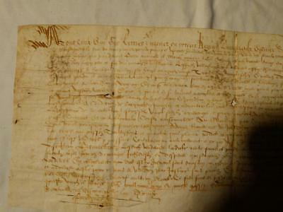 De Le Fontaine - 17thC FRENCH Signed Vellum Document IMPORTANT !! ? #Y100