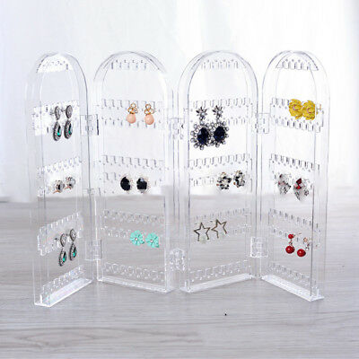 Screen Stud Earring Holder Acrylic Stand Jewellery Foldable Display Rack Storage