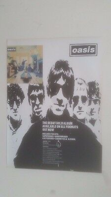OASIS - Definitely Maybe + UK Tour Dates - 1994 Magazine Advertisment Poster