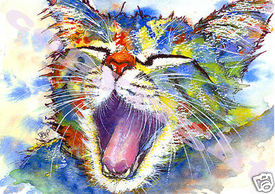 CAT KITTEN PRINT from Original Watercolour Painting Picture Art by JOSIE P