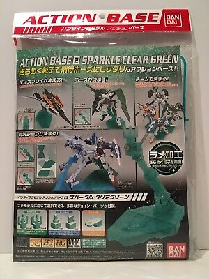 Action Base 2 Sparkle Clear Green By Bandai - New - Usa Seller