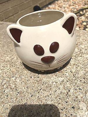 "Mud Pie Handcrafted Cat Mugimals With Quote ""I Got Rid Of My Husband"" Coffee Mug"