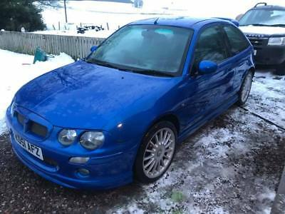 MG ZR 3dr (160 Top of the Range) 1.8 VVC in Trophy Blue, Spoked Wheels RARE!