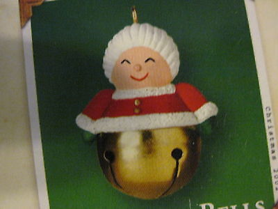 2002 Hallmark Miniature CHRISTMAS BELLS Ornament MRS. CLAUS #8 NEW