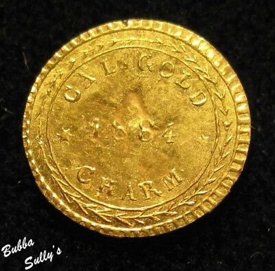1884 California Gold Token <> Eureka <> ABOUT UNCIRCULATED