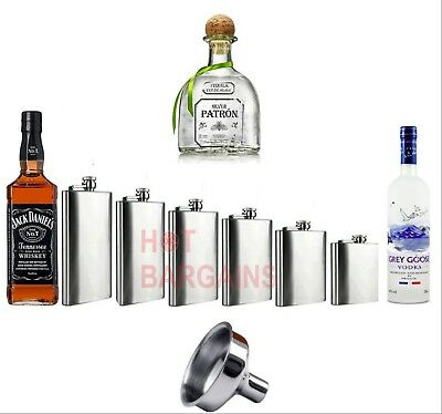 1 4 5 6 7 8 9 10 18 oz Hip Flask Stainless Steel Pocket Drink Whisky Flasks TOP