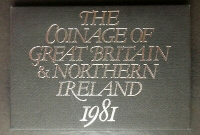 1981 Great Britain and Northern Ireland Proof Set of Coins
