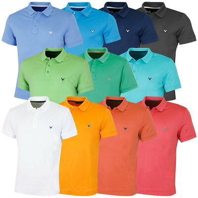 Callaway Golf 2017 Mens X Solid Polo II Shirt Opti-Dri Tech Short Sleeve