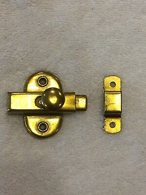 Vintage Solid Brass Cupboard Cabinet Door Latch 2""