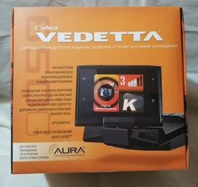 Cobra Vedetta SLR650G RU Radar Detector Russian Language, Works Worldwide радар