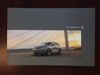 2018 Lincoln Mkx Brochure Showroom Product Information Trim, Color, Options