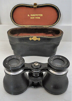 Lemaire FAB Opera Glasses Binoculars With Leather Case Vintage Antique