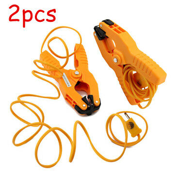2pcs K-type Probe Pipe Clamp Thermocouple Temperature Lead Thermometer -40~+200℃