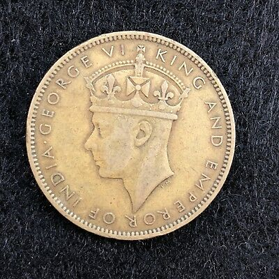 1942 Jamaica Jamaican One 1 Penny George VI Arms Coin