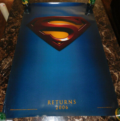 2005 Superman Returns Movie Poster 27 X 40 Double 2 Sided Very Good