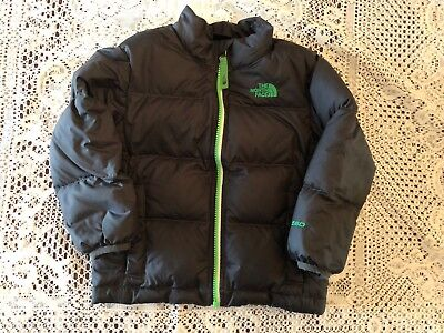 North Face Boys 550 Goose Feather Coat Jacket Sz 4t Charcoal Must See