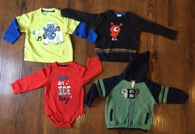 Boys Gymboree Shirts Sweater Sweatshirt 18-24 Mo Lot Of 4