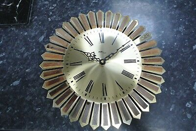 Vintage Retro AVIA 1970s Starburst Wall Clock made in West Germany
