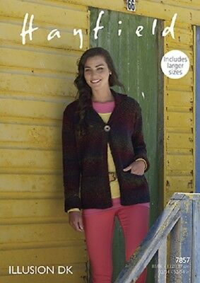 Sirdar Hayfield illusions Womens Cardigans & Jackets 7857 Knitting Pattern