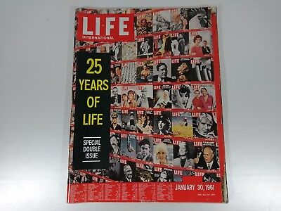Vintage LIFE Magazine January 30 1961 25 Years of LIFE Special Double Issue Int.