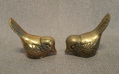Pair of Solid Brass Song Birds (3 Available) Item 102