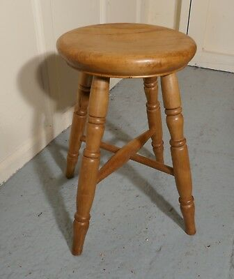 A Victorian Elm Farmhouse Kitchen Stool