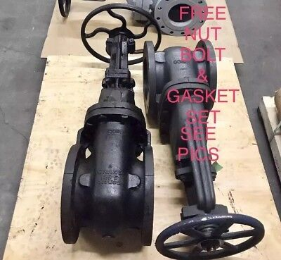 """Crane 8"""" Class 125# Flanged Os&y Gate Valve Figure 465 1/2 Mss Sp-70"""