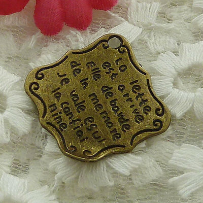 free ship 78 pieces bronze plated nice charms 31x30mm #2541