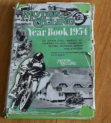 Motor Cycling Year Book 1954 Hardcover Book.
