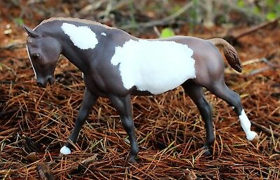 Customized traditional scale Breyer chestnut pinto Cantering Welsh Pony CM