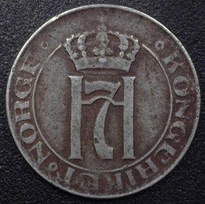 NORWAY 1920 2 ORE  EXTREMELY FINE  KM#371a