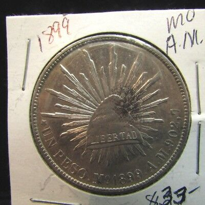 Mexico - 1899 MoAM Large Silver Peso