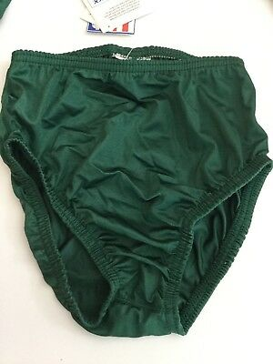 Cobblestone Forest Green Cheerleading Panty Mixed Lot of 3 sizes NWT Lycra Brief