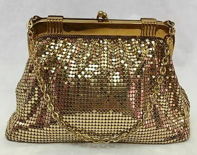 Vintage Whiting & Davis Gold Mesh Evening Bag with Chain Handle