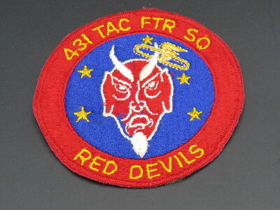 "Original Post Wwii Air Force 431St Tac Fighter Sqdn Patch-""red Devils"""