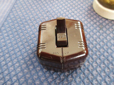toggle snap light switch ALL Brown bakelite single pole wire vintage tested
