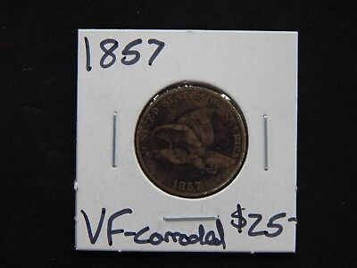 1857 Very Fine Flying Eagle Cent - Corroded