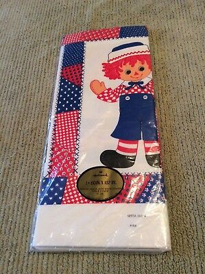 Vintage Hallmark Raggedy Ann Andy Paper Table Cover Sealed!